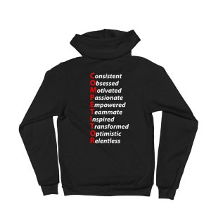 bodybuilding competitor zipped hoodie